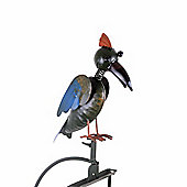 Rocking Metal Coloured Bird Garden Ornament