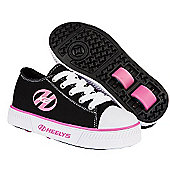 Heelys Pure Black and Pink Skate Shoes - Size 1