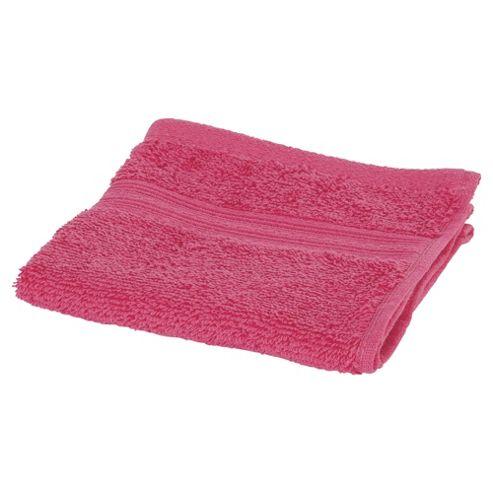 Tesco Face Cloth Raspberry