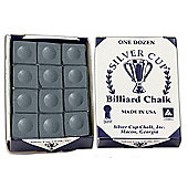 Silver Cup Billiard Chalk (12 Pieces) - Chalk Colour : Black Chalk
