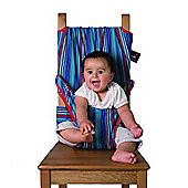 Totseat Travel Highchair, Blue Stripes