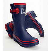 Evercreatures Ladies Shortie Wellies Raspnavy Red Trimming 4