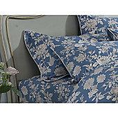 Kew Gardens Tea Rose Oxford Pillowcase - Teal