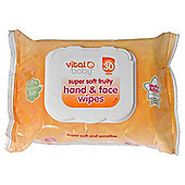 Vital Baby Fruity Hand & Face Wipes - 30 pack