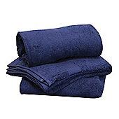Homescapes Turkish Cotton Navy Blue Bath Towel