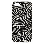Tortoise™ Look Hard Case iPhone 5 Glitter Zebra Black/Silver