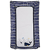 Mothercare Baby's Whale Bay Navy Blue and White Striped Changing Mat