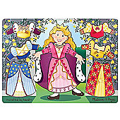 Melissa & Doug Princess Dress-Up Mix 'n Match Peg Puzzle