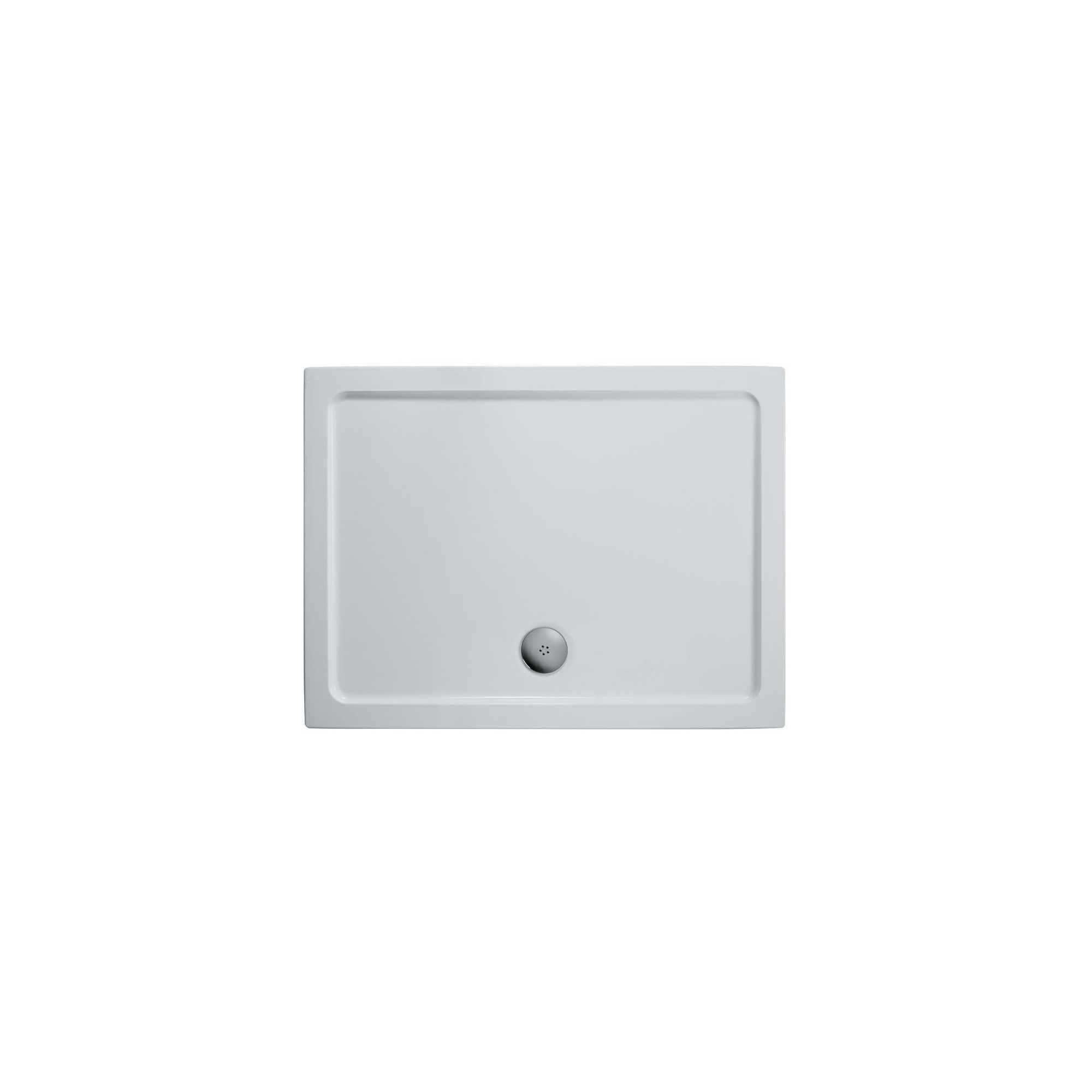 Ideal Standard Kubo Pivot Door Alcove Shower Enclosure, 900mm x 760mm, Bright Silver Frame, Low Profile Tray at Tesco Direct