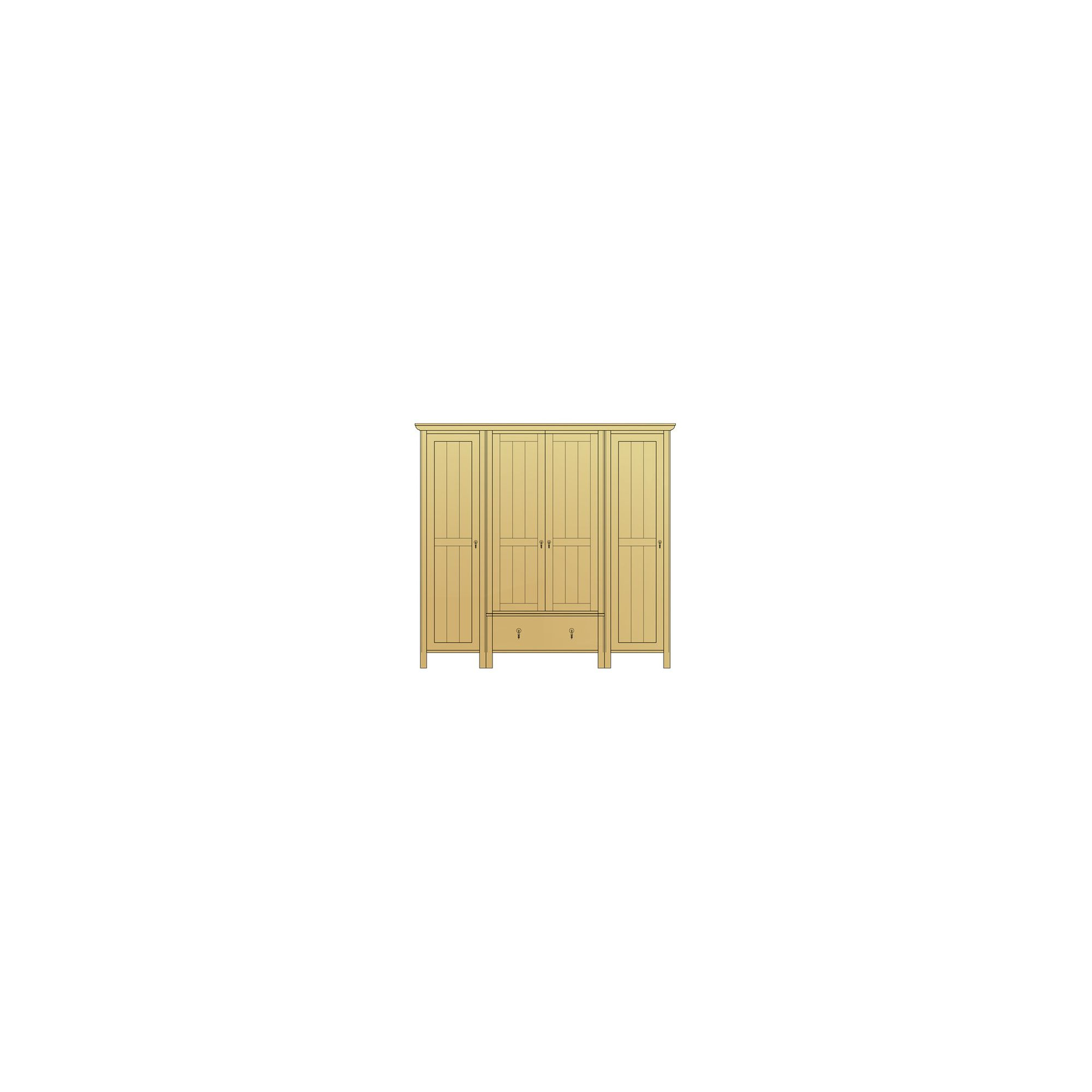 Sherry Designs Simply Bedroom 4 Door 1 Drawer Combination Oak Wardrobe at Tesco Direct