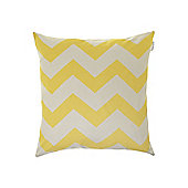 Living By Christiane Lemieux Oversized Chartreuse Chevron Printed Cushion