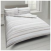Basic Tonal Stripe Duvet Set Natural, Kingsize