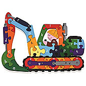Alphabet Jigsaws Handcrafted Traditional Wooden Puzzle: Alphabet Digger