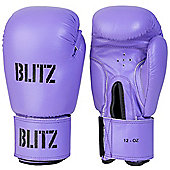 Blitz - Standard Leather Boxing Gloves - Purple