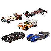 Star Wars Hot Wheels 1:64 Character Car 5 Pack