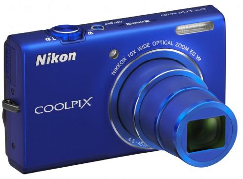 Nikon Coolpix S6200 Digital Camera, Blue, 16MP, 10x Optical Zoom, 2.7 inch LCD Screen