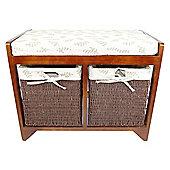 Geko Products Wood Storage Bathroom Bench