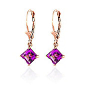 QP Jewellers 3.20ct Pink Topaz Diana Earrings in 14K Rose Gold