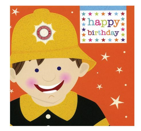 Funny Fireman Birthday Card
