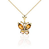 QP Jewellers 20in 1.15mm Butterfly Necklace with 0.60ct Citrine Pendant in 14K Gold