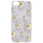 Tortoise™ Hard Protective Case,iPhone 5/5S, Clear with Daisy Print.