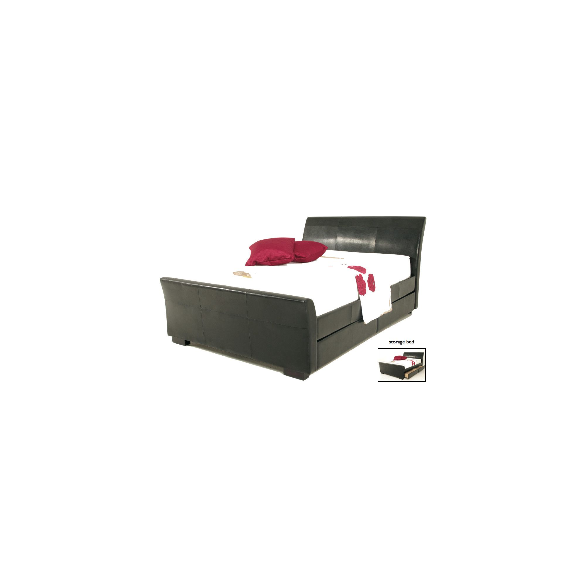 Elements Tripoli Bed - Black - Double at Tesco Direct