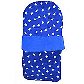 PreciousLittleOne Padded Fleece Footmuff (Blue Stars)