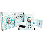 New Baby Boy 5 Piece Keepsake Gift Set - Blue / White