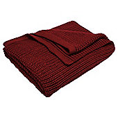Tesco Chunky Knit Throw Red
