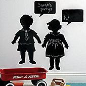Vintage Children's Chalkboard Sticker Set