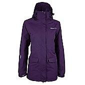 Glacier Extreme Womens Waterproof Hooded Rain Shower Proof Anorak Long Jacket - Purple