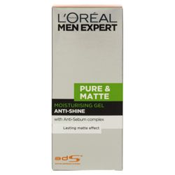 L'Oreal Men 50ML Pure & Matte Moisturising Gel