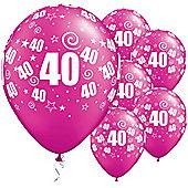 11' 40th Swirl Around Pearl Magenta (25pk)
