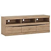 Ultimum Kensington Wide 2 Door 1 Drawer Oak TV Stand