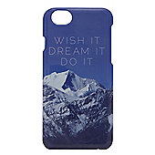 "Tortoiseâ""¢ Hard Protective Case, iPhone 6, Mountain Design with Wish It Dream It Do It Written, Blue/Grey."