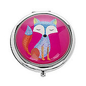 Funky Fox Pink Compact Mirror