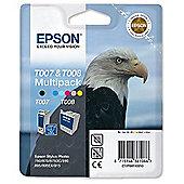 Epson T007 (Black) Plus T008 (Colour) Ink Cartridges for Stylus Photo 790/870/890/1270/1290/1290S/875DC/895/900/915 Printers