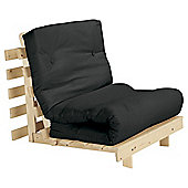 Helsinki Pine Single Futon With Mattress Black