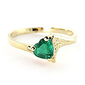 QP Jewellers 1.0ct Emerald Devotion Heart Ring in 14K Gold
