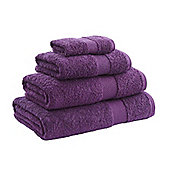 Catherine Lansfield Home Egyptian towel face cloth, 30x30, Aubergine