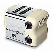 Rowlett Rutland Esprit 2 Slice Wide Bread Toaster with Bun Mode - Cream