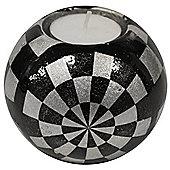 Glazed Ceramic Small Globe Tea Light / Candle Holder