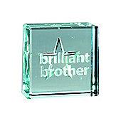 Spaceform Brilliant Brother Solid Glass Keepsake