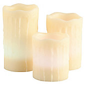 Frostfire 3 dripping wax colour changing candles with vanilla scent and RC and timer 6002