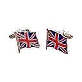 Fluttering enamel Union Jack Cufflinks - for all true brits - ck996