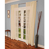 Batiste Voile Curtain Panel - Ivory
