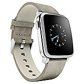 Pebble Steel Smartwatch, Beige