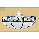 Loxton Lighting Boulogne Uplighter in Beige and Chrome
