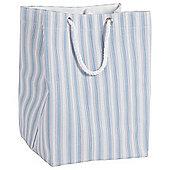 Tesco Blue Core Stripe Laundry Bag