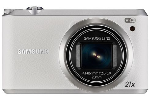 Samsung WB350F Smart Digital Camera, White, 16.3MP, 21x Optical Zoom, 3